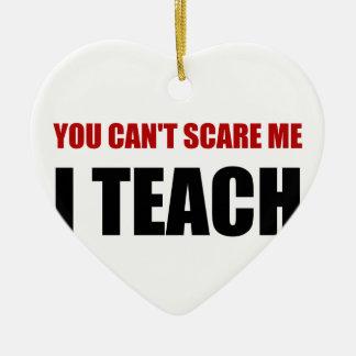 Scare Me I Teach Ceramic Heart Decoration