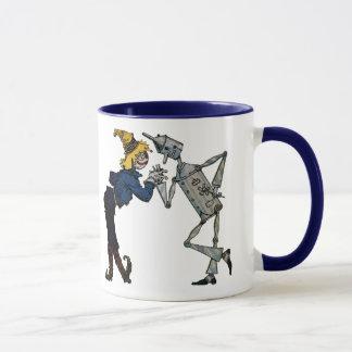 Scarecrow and Tin Man Ceramic Mug