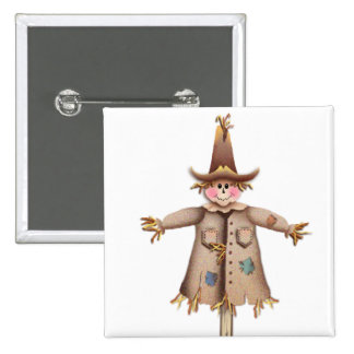 SCARECROW by SHARON SHARPE 15 Cm Square Badge