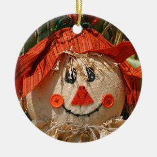 scarecrow ceramic ornament