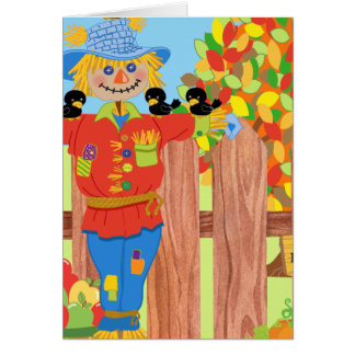 scarecrow fence scene i card