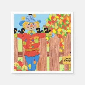 scarecrow fence scene i disposable napkin