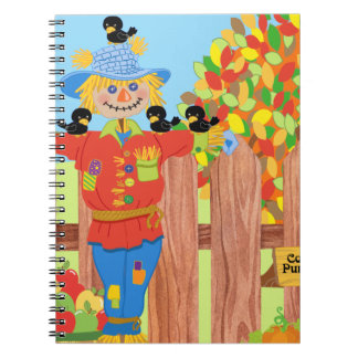 scarecrow fence scene i notebook
