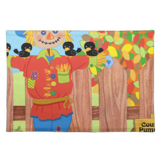 scarecrow fence scene i placemat