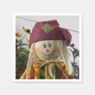 Scarecrow Girl Disposable Serviette