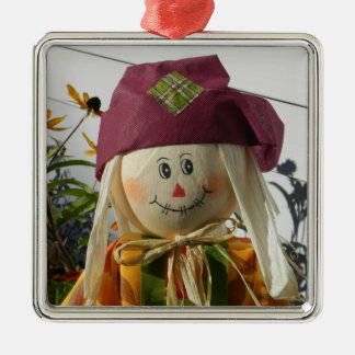 Scarecrow Girl Premium Square Ornament