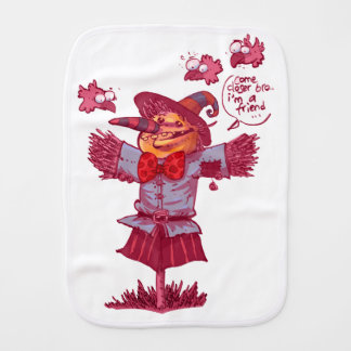 scarecrow gives friendship message cartoon burp cloth