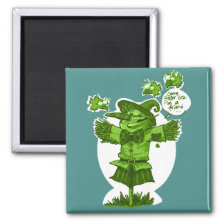 scarecrow gives friendship message cartoon magnet