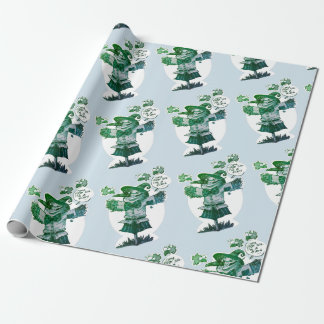 scarecrow gives friendship message funny cartoon wrapping paper