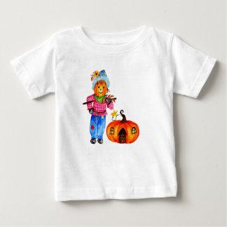 Scarecrow Guarding Halloween Pumpkin Baby T-Shirt