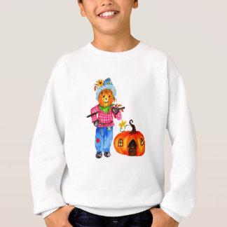 Scarecrow Guarding Halloween Pumpkin Sweatshirt