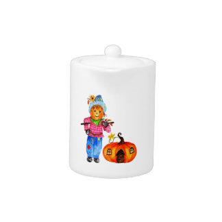 Scarecrow Guarding Pumpkin