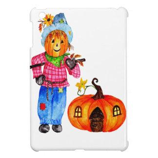Scarecrow Guarding Pumpkin iPad Mini Covers