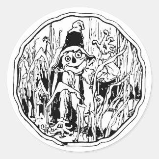 Scarecrow in the Corn Classic Round Sticker