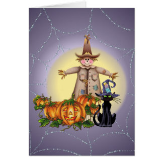 SCARECROW, JACK & CAT by SHARON SHARPE Card