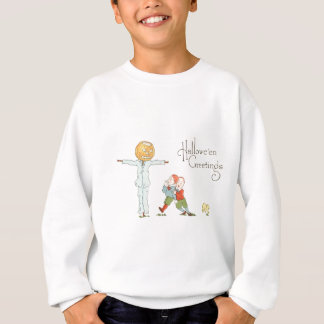 Scarecrow Jack O' Lantern Pumpkin Children Dog Sweatshirt