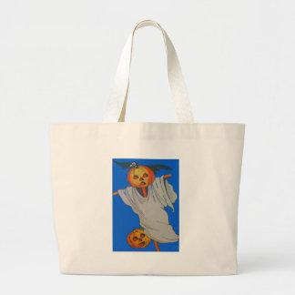 Scarecrow Jack O' Lantern Pumpkin Ghost Jumbo Tote Bag