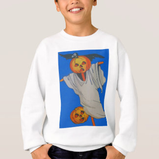 Scarecrow Jack O' Lantern Pumpkin Ghost Sweatshirt