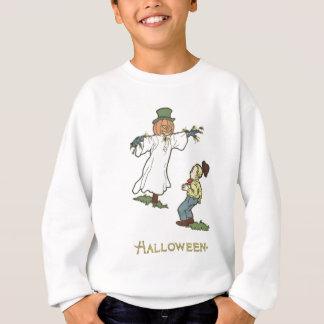 Scarecrow Jack O' Lantern Scared Boy Sweatshirt