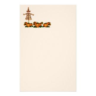 SCARECROW & JACK PUMPKIN by SHARON SHARPE Stationery Design