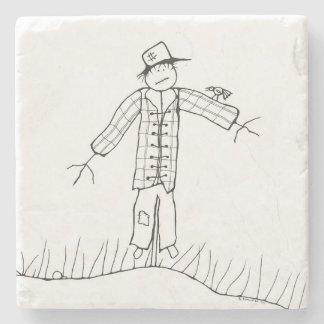 Scarecrow Marble Stone Coaster. Stone Coaster