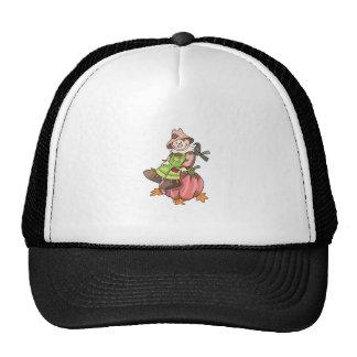 SCARECROW ON PUMPKIN TRUCKER HAT