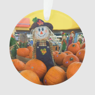 Scarecrow & Pumpkins #2 Ornament