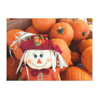 Scarecrow & Pumpkins Canvas