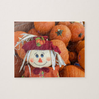 Scarecrow & Pumpkins Jigsaw Puzzle