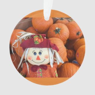 Scarecrow & Pumpkins Ornament