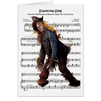 Scarecrow w/Sheet Music Background Card
