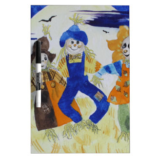 Scarecrows Dancing Dry Erase Board