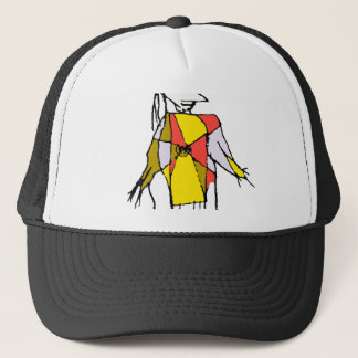 Scarecrows Drawing Trucker Hat