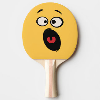 Scared Funny Face Ping Pong Paddle