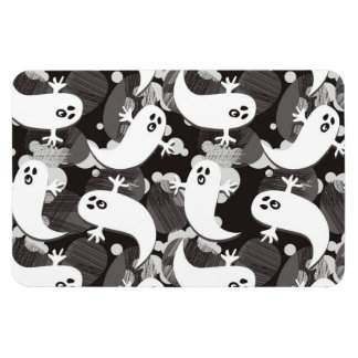 scared ghosts rectangular photo magnet