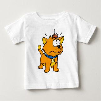 Scared Kitty: Cartoon cat Baby T-Shirt