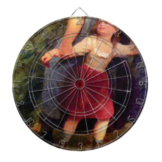 scared little girl dartboard