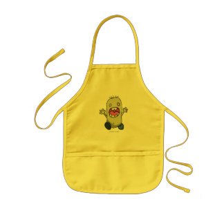 Scared Monster Kids Apron