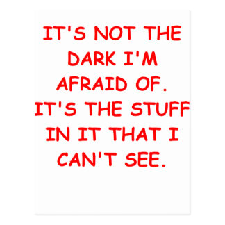 scared of the dark postcard