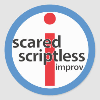 Scared Scriptless Round Logo Stamp Sticker