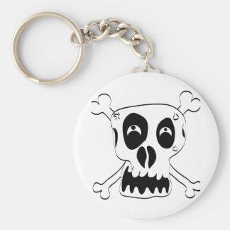 Scared Skull Key Ring