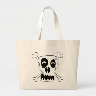 Scared Skull Large Tote Bag