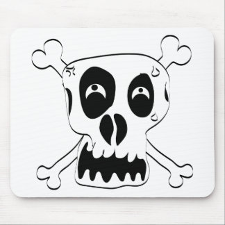 Scared Skull Mouse Pad