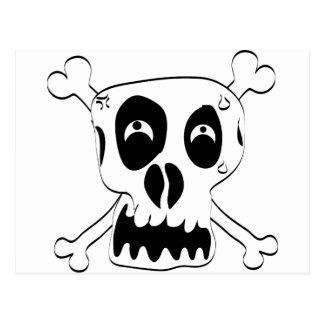 Scared Skull Postcard
