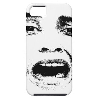 Scared Woman Expression iPhone 5 Cases