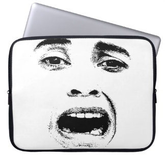 Scared Woman Expression Laptop Sleeve