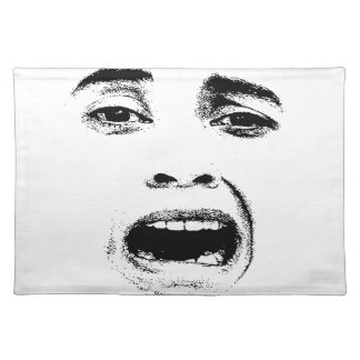 Scared Woman Expression Placemat
