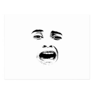 Scared Woman Expression Postcard