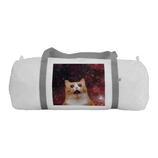 scaredy cat in space gym duffel bag