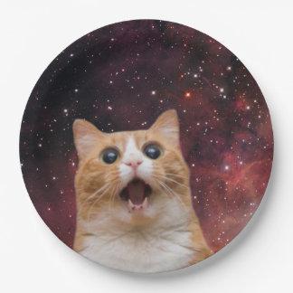 scaredy cat in space paper plate